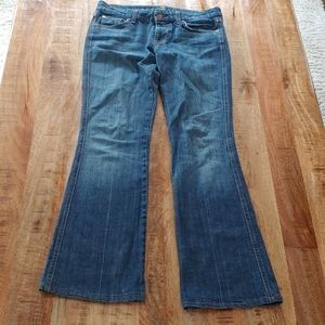 7 for all mankind jeans 29 woman's boot midrise